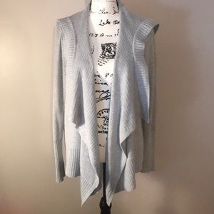 Size Large Gray Open Sweater from Hollister